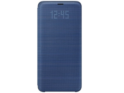 Genuine Samsung Galaxy S9+ LED View Cover - Blue S View Cover