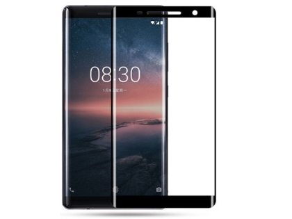 Curved Tempered Glass Full Screen Protector for Nokia 8 Sirocco - Black/Clear Screen Protector