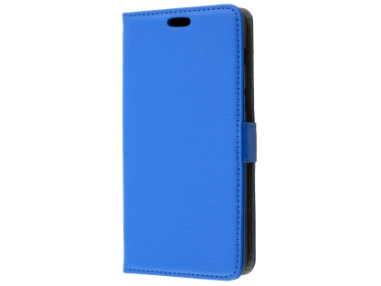 Synthetic Leather Wallet Case with Stand for Samsung Galaxy A8 (2018) - Blue Leather Wallet Case