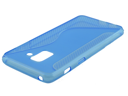 Wave Case for Samsung Galaxy A8 (2018) - Blue Soft Cover