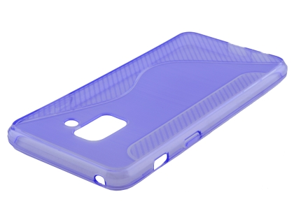 Wave Case for Samsung Galaxy A8 (2018) - Purple Soft Cover
