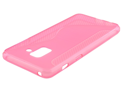 Wave Case for Samsung Galaxy A8 (2018) - Pink Soft Cover