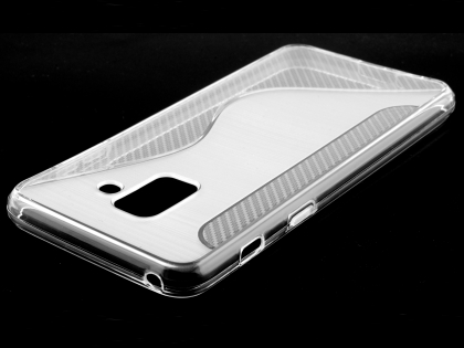Wave Case for Samsung Galaxy A8 (2018) - Clear Soft Cover