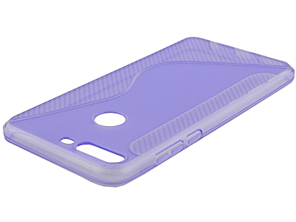 Wave Case for Huawei Y7 Prime (2018) - Purple Soft Cover