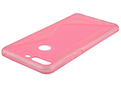 Wave Case for Huawei Y7 Prime (2018) - Pink Soft Cover