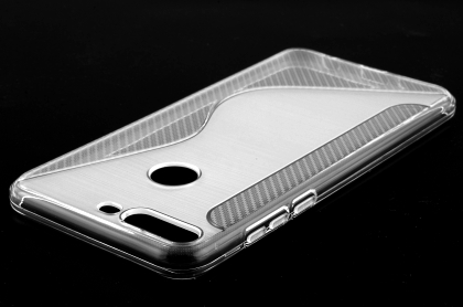 Wave Case for Huawei Y7 Prime (2018) - Frosted Clear Soft Cover