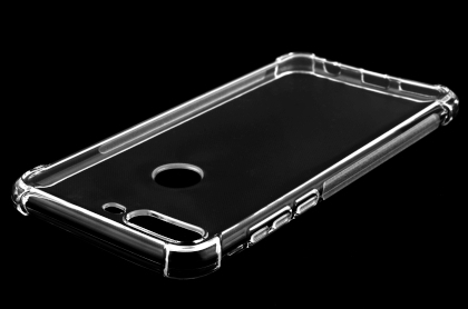 Gel Case with Bumper Edges for Huawei Y7 Prime (2018) - Clear Soft Cover