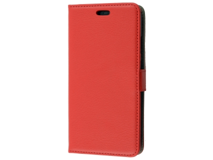 Synthetic Leather Wallet Case with Stand for Huawei Nova 3e - Red