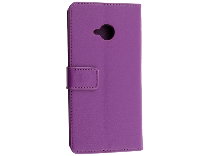Synthetic Leather Wallet Case with Stand for HTC U11 Life - Purple Leather Wallet Case