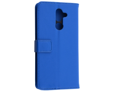 Synthetic Leather Wallet Case with Stand for Nokia 7 Plus - Blue Leather Wallet Case