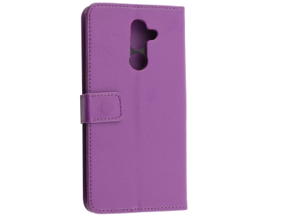 Synthetic Leather Wallet Case with Stand for Nokia 7 Plus - Purple Leather Wallet Case