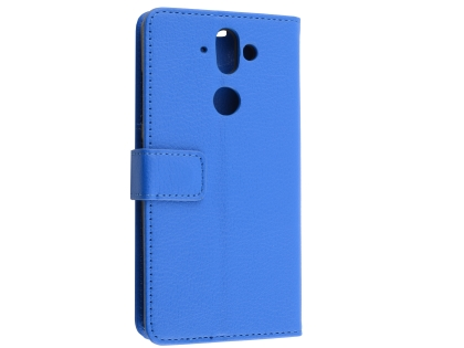Synthetic Leather Wallet Case with Stand for Nokia 8 Sirocco - Blue Leather Wallet Case