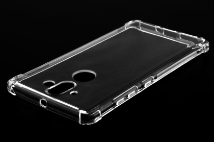 Gel Case with Bumper Edges for Nokia 8 Sirocco - Clear Soft Cover