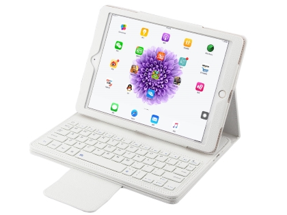 Synthetic Leather Bluetooth Keyboard Case for iPad Pro 10.5 - White Keyboard