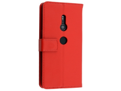 Synthetic Leather Wallet Case with Stand for Sony Xperia XZ2 - Red Leather Wallet Case