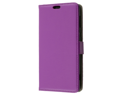 Synthetic Leather Wallet Case with Stand for Sony Xperia XZ2 - Purple Leather Wallet Case