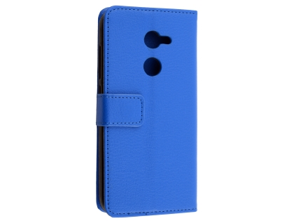 Synthetic Leather Wallet Case with Stand for Alcatel A3 - Blue Leather Wallet Case