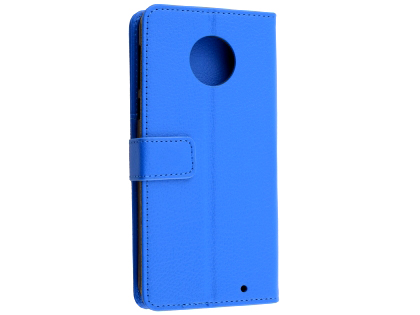 Synthetic Leather Wallet Case with Stand for Motorola Moto G6 - Blue Leather Wallet Case