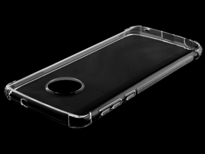 Gel Case with Bumper Edges for Motorola Moto G6 - Clear Soft Cover