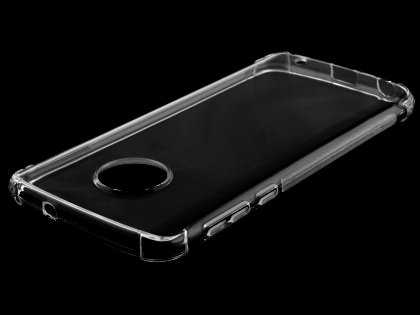 Gel Case with Bumper Edges for Motorola Moto G6 Plus - Clear Soft Cover