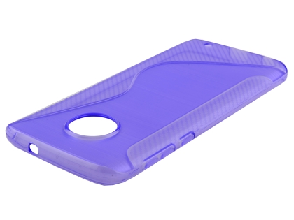 Wave Case for Motorola Moto G6 - Purple Soft Cover
