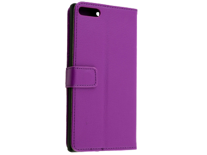 Synthetic Leather Wallet Case with Stand for Razer Phone - Purple Leather Wallet Case