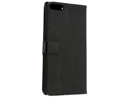 Synthetic Leather Wallet Case with Stand for Razer Phone - Black Leather Wallet Case