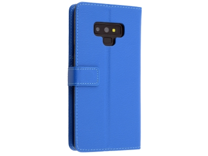 Synthetic Leather Wallet Case with Stand for Samsung Galaxy Note9 - Blue Leather Wallet Case