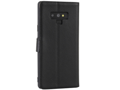 Premium Leather Wallet Case with Stand for Samsung Galaxy Note9 - Black Leather Wallet Case