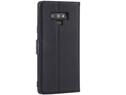 Premium Leather Wallet Case with Stand for Samsung Galaxy Note9 - Midnight Blue Leather Wallet Case