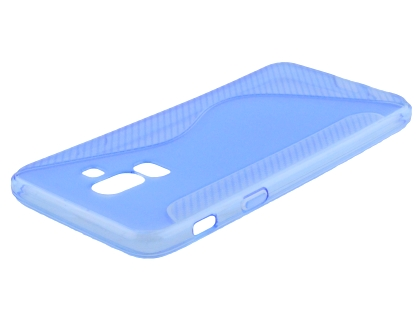 Wave Case for Samsung Galaxy J8 - Blue Soft Cover