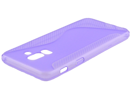 Wave Case for Samsung Galaxy J8 - Purple Soft Cover