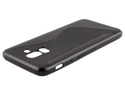 Wave Case for Samsung Galaxy J8 - Black Soft Cover