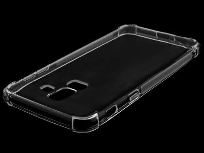 Gel Case with Bumper Edges for Samsung Galaxy J8 - Clear Soft Cover