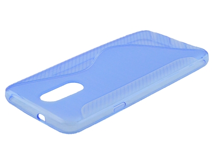 Wave Case for LG Q7 - Blue Soft Cover