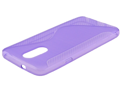 Wave Case for LG Q7 - Purple Soft Cover