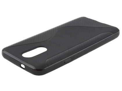 Wave Case for LG Q7 - Black Soft Cover