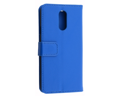 Synthetic Leather Wallet Case with Stand for LG Q7 - Blue Leather Wallet Case