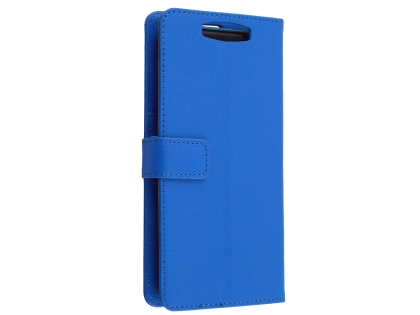 Synthetic Leather Wallet Case with Stand for OPPO Find X - Blue Leather Wallet Case