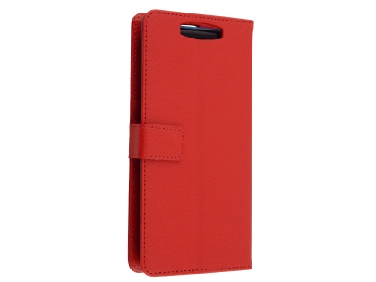 Synthetic Leather Wallet Case with Stand for OPPO Find X - Red Leather Wallet Case