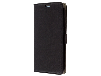 Synthetic Leather Wallet Case with Stand for OPPO Find X - Black Leather Wallet Case