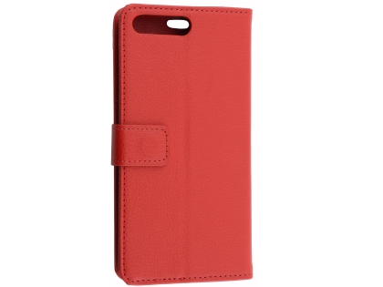 Synthetic Leather Wallet Case with Stand for Huawei Y6 (2018) - Red Leather Wallet Case