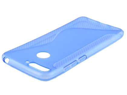 Wave Case for Huawei Y6 (2018) - Blue Soft Cover