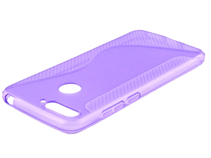 Wave Case for Huawei Y6 (2018) - Purple Soft Cover