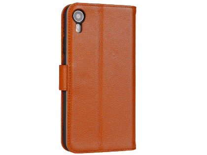 Premium Leather Wallet Case with Stand for Apple iPhone XR - Caramel Leather Wallet Case