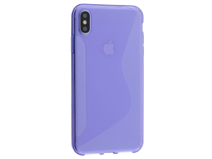 Wave Case for Apple iPhone Xs Max - Purple Soft Cover