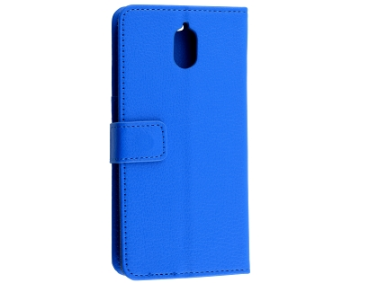 Synthetic Leather Wallet Case with Stand for Nokia 3.1 - Blue Leather Wallet Case