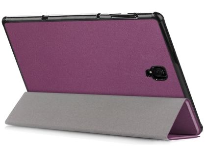 Slim Synthetic Leather Flip Case with Stand for Samsung Galaxy Tab A 10.5 - Purple Leather Flip Case