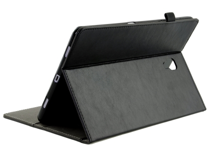 Synthetic Leather Flip Case with Stand for Samsung Galaxy Tab A 10.5 - Black Leather Flip Case