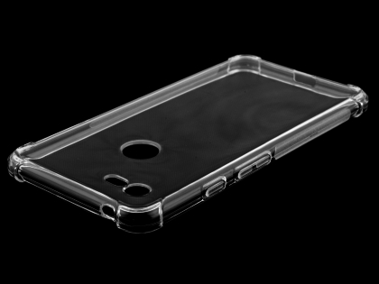 Gel Case with Bumper Edges for Google Pixel 3 XL - Clear Soft Cover